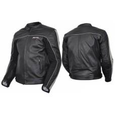Куртка мотоциклетная (кожа) Metropolis Lady черно-белый (Размер L) MICHIRU