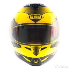 Шлем GSB G-339 yellow black S