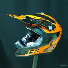 Шлем (кроссовый) JUST1 J32 PRO Kick оранжевый глянцевый (2018) S