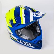 Шлем (кроссовый) JUST1 J32 PRO Kick белый/желтый/черный глянцевый (2018) XS