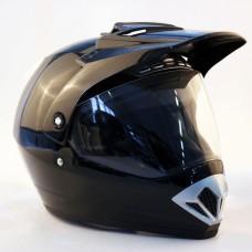 Шлем (мотард) Origine Gladiatore Solid (черный глянцевый, L) павлик