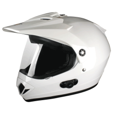 Шлем (мотард) Origine Gladiatore Solid белый глянцевый M