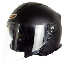 Шлем (открытый со стеклом) ORIGINE PALIO Solid черный глянцевый M