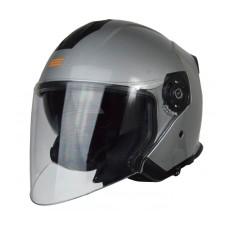 Шлем (открытый со стеклом) ORIGINE PALIO Solid серебристый глянцевый XL