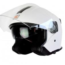 Шлем (открытый со стеклом) ORIGINE PALIO Solid белый глянцевый L