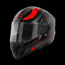 Шлем (интеграл)  Origine STRADA Graviter черный/красный глянцевый L