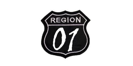 "Шеврон ""Region 01"" черный"