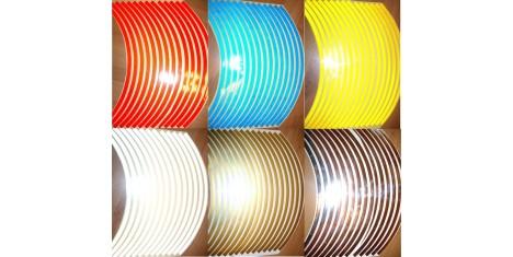 Наклейки 3М светоотражающие на диск (лист) М304 синие
