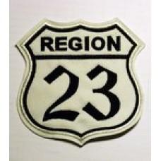 """Шеврон """"Region 23"""" белый"""