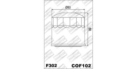 Масляный фильтр COF102 (F302)