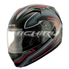 Шлем интеграл MI 162 TechnoBlack (Размер L) MICHIRU (с солнцезащитным стеклом)