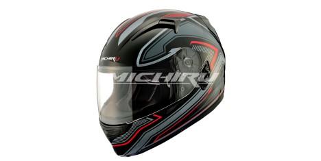 Шлем интеграл MI 162 TechnoBlack MICHIRU (с солнцезащитным стеклом)