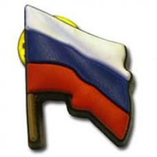Значок байкерский резиновый Флаг РФ