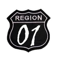 """Шеврон """"Region 01"""" белый"""