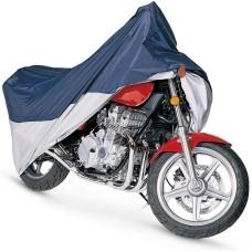 Чехол на мотоциклХXL черно-белый