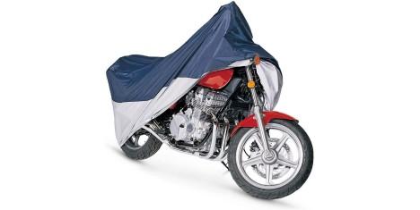 Чехол на мотоцикл черно-белый