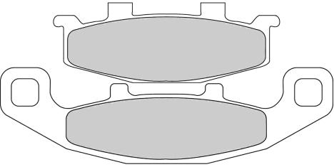Тормозные колодки FDB481P