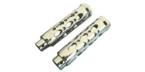 Ручки руля алюмин. (пара) H278CH хром для рулей d-22mm универсальные