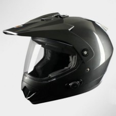 Шлем (мотард) Origine Gladiatore Solid (черный глянцевый, S)