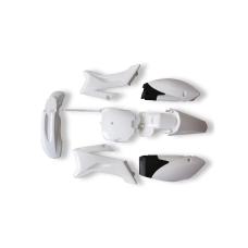 комплект пластика для питбайка (тип TTR) белый
