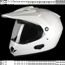 Шлем (мотард) Origine Gladiatore Solid белый глянцевый S