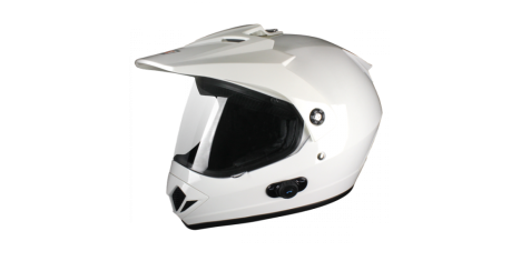 Шлем (мотард) Origine Gladiatore Solid (белый глянцевый, S) павлик