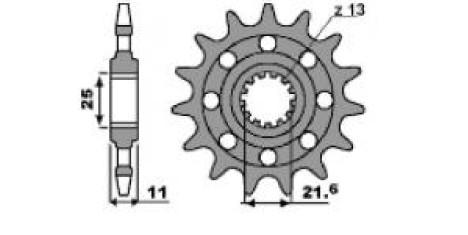 PBR Звезда передняя 2041 C15 HONDA CB-1