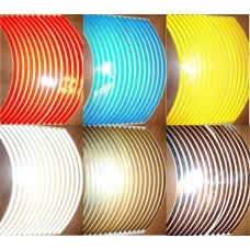 Наклейки 3М светоотражающие на диск (лист) М304 желтые