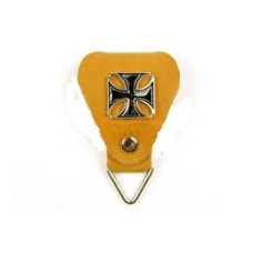 """Брелок-тренчик """"Мальтийский крест"""" коричневый"""