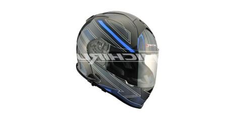 Шлем интеграл MI 167  RoboSky Blue (Размер ХL) MICHIRU (с солнцезащитным стеклом)