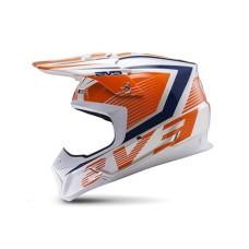 Шлем (кроссовый)  EVS T5 VECTOR оранжевый\синий глянцевый М