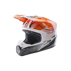 Шлем (кроссовый)  EVS T5 WORKS оранжевый/белый/черный глянцевый L