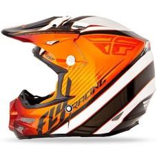 Шлем (кроссовый) F2 CARBON FASTBACK оранжевый/черный/белый глянцевый (2015) L