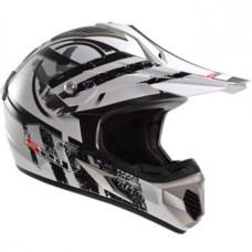 Шлем MX433 STRIPE WHITE BLACK M